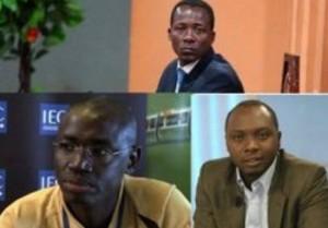 Les trois journalistes Camerounais interdits de quitter le Cameroun. Crédit photos: 237online.com.